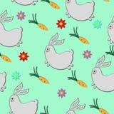 Coniglio e carote Immagini Stock