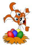 Coniglio e Pasqua royalty illustrazione gratis