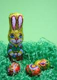 Coniglio ed uova dolci Fotografia Stock Libera da Diritti