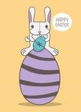 Coniglio felice di Pasqua Immagine Stock