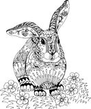 Coniglio fra i fiori Fotografie Stock Libere da Diritti
