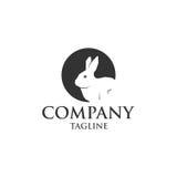 Coniglio nel logo di vettore dell'icona del foro Immagine Stock Libera da Diritti