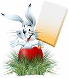 Coniglio nell'uovo con la zolla Fotografia Stock Libera da Diritti