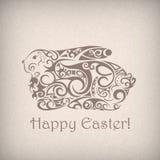 Coniglio ornamentale sveglio di Pasqua. Royalty Illustrazione gratis