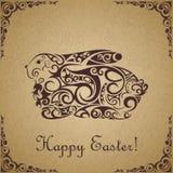 Coniglio ornamentale sveglio di Pasqua. Illustrazione Vettoriale