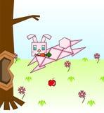 Coniglio rosa di carta Fotografie Stock