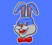 Coniglio rosso del nastro illustrazione di stock