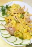 Coniglio in salsa crema Immagini Stock