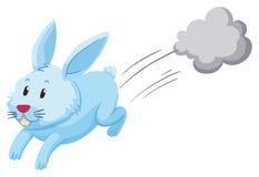 Coniglio sveglio che corre da solo illustrazione di stock