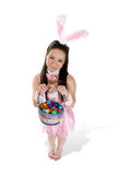 Coniglio sveglio di Pasqua Fotografia Stock Libera da Diritti