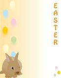 Coniglio sveglio di Pasqua, grande per una scheda rapida, documento Immagini Stock