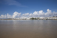 Conil village from water Stock Photo