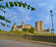 Conisbrough Castle. UK South Yorkshire Castle in the Autumn sun Royalty Free Stock Photography