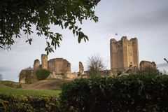 Conisbrough Castle. Doncaster, South Yorkshire, England, 14th Nov 2017 Royalty Free Stock Images
