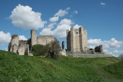 Conisbrough-Schloss in South Yorkshire Stockfotografie