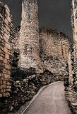 Conisbroughkasteel, Engeland royalty-vrije stock foto's
