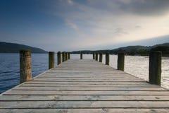 coniston地区湖码头 免版税库存照片