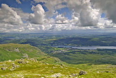 Coniston & Coniston Water Stock Image