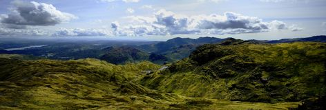 Coniston. Fells and Lake from Blea Rigg Royalty Free Stock Photo