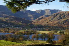 Coniston Lake Autumn royalty free stock image
