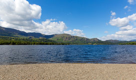 Coniston Lake hills and and mountains The Lakes Cumbria England uk Royalty Free Stock Photo