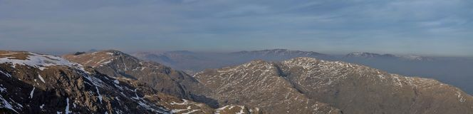 Lake District National Park Coniston Panorama Royalty Free Stock Images