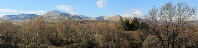 Coniston Old Man Panorama Stock Photography