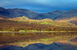 Coniston Relections Photographie stock libre de droits