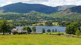 Coniston sjö sjöarna Cumbria England UK Fotografering för Bildbyråer