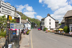 Coniston town Lake District England uk blue sky summer day Royalty Free Stock Images