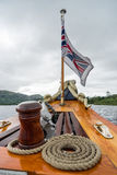 CONISTON-VATTEN, SJÖ DISTRICT/ENGLAND - AUGUSTI 21: Union Jack F Royaltyfri Bild