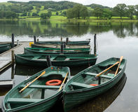 Free CONISTON WATER, LAKE DISTRICT/ENGLAND - AUGUST 21 : Rowing Boats Royalty Free Stock Image - 71026556