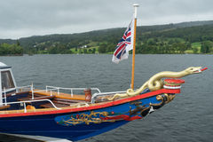 CONISTON WATER, LAKE DISTRICT/ENGLAND - AUGUST 21 : Sydney the S Royalty Free Stock Images