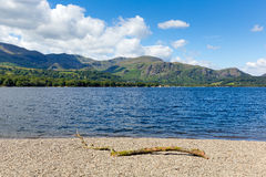 Coniston water Lake District England uk blue sky summer day Royalty Free Stock Image