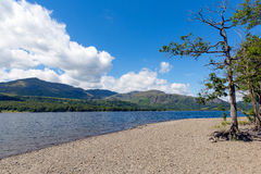 Coniston water Lake District National Park England uk on a beautiful sunny summer day Royalty Free Stock Images