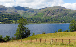 Coniston Water and mountains Lake District England uk Royalty Free Stock Photos