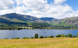 Coniston Water and mountains Lake District England uk Stock Photos