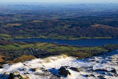 Coniston Water from the Old Man Stock Photo