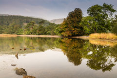 Coniston Water reflections Royalty Free Stock Photo