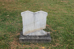 Conjoined Twin Marble Headstones in Old Cemetery Royalty Free Stock Images