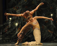 Conjoined twins-Arabia Music  Coffee -The Ballet  Nutcracker Stock Image