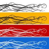 Conjunto abstracto de la bandera de la flecha del remolino Imagen de archivo