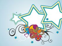 Conjunto abstracto de la estrella de la pintura Imágenes de archivo libres de regalías