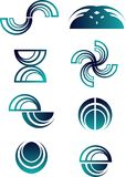 Conjunto abstracto de la insignia Foto de archivo libre de regalías