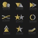 Conjunto abstracto de la insignia Fotografía de archivo libre de regalías