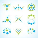 Conjunto abstracto de la insignia del vector Imagen de archivo libre de regalías