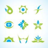 Conjunto abstracto de la insignia del vector Foto de archivo