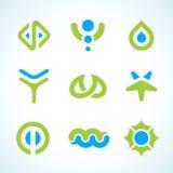 Conjunto abstracto de la insignia del vector Fotos de archivo libres de regalías