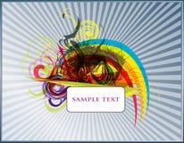 Conjunto abstracto del fondo del vector Foto de archivo libre de regalías