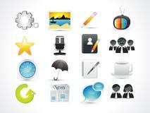 Conjunto abstracto del icono del Web Fotos de archivo